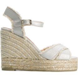 Castañer wedge espadrille sandals - Metallic
