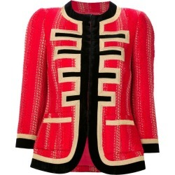 Givenchy - lurex tweed jacket - women - Acrylic/Polyester/Viscose/Metallized Polyester - 38, Red