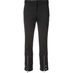 Alexander McQueen cropped zip trousers - Black found on Bargain Bro UK from FarFetch.com- UK