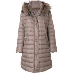 Baldinini fur hooded coat - Brown found on MODAPINS from FARFETCH.COM Australia for USD $1370.64