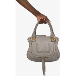 Chloé Womens Grey Marcie Leather Shoulder Bag found on Bargain Bro UK from Browns Fashion