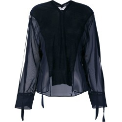Aviù panelled blouse - Blue found on MODAPINS from FARFETCH.COM Australia for USD $191.87