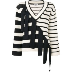 Monse V-neck falling stripes jumper