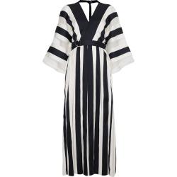 Adam Lippes Silk Striped Kimono Dress - White found on MODAPINS from FARFETCH.COM Australia for USD $1044.44