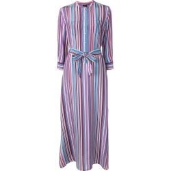 Aspesi striped long belted dress - Purple found on MODAPINS from FarFetch.com - US for USD $1041.00