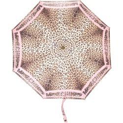 Moschino leopard-print umbrella - Pink