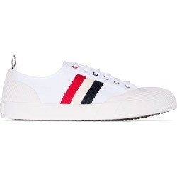 Thom Browne low-top tri-stripe sneakers - White found on Bargain Bro UK from FarFetch.com- UK