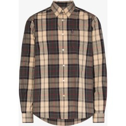 Barbour Mens Grey Sandwood Check Cotton Shirt found on Bargain Bro UK from Browns Fashion