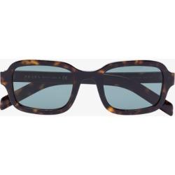 Prada Eyewear Womens Brown Rectangular Tinted Sunglasses found on Bargain Bro UK from Browns Fashion