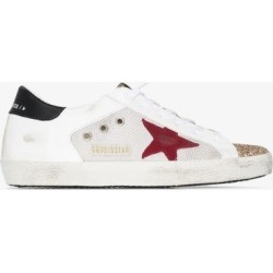 Golden Goose Womens White Superstar Mesh Leather Sneakers found on Bargain Bro UK from Browns Fashion