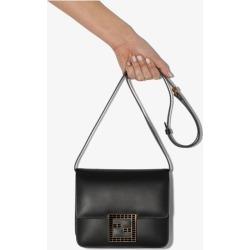 Fendi Womens Black Fab Leather Shoulder Bag found on Bargain Bro UK from Browns Fashion