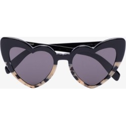 Saint Laurent Eyewear Womens Black New Wave Loulou Heart Sunglasses found on Bargain Bro UK from Browns Fashion