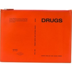Raf Simons Drugs clatch bag - Orange