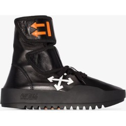 Off-White black Moto high top wrap sneakers found on Bargain Bro UK from Browns Fashion