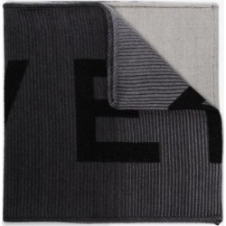 Givenchy Mens Black And Grey Wool Logo Scarf found on Bargain Bro UK from Browns Fashion