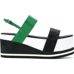 A.F.Vandevorst colour block flatform sandals - Multicolour found on MODAPINS from FarFetch.com- UK for USD $421.94