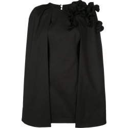 Acler cape layer mini dress - Black found on MODAPINS from FarFetch.com - US for USD $390.00