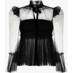 Khaite Womens Black Dominika Silk Tulle Blouse found on MODAPINS from Browns Fashion for USD $1682.84