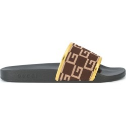 Gucci G print shower slides - Black found on Bargain Bro UK from FarFetch.com- UK for $604.27