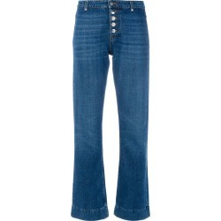 Alexa Chung flare button jeans - Blue found on MODAPINS from FarFetch.com- UK for USD $98.48