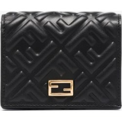 Fendi Womens Black Logo-embossed Leather Purse found on Bargain Bro UK from Browns Fashion