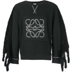 Loewe logo embellished sleeve sweater - Grey found on MODAPINS from Farfetch:Linkshare:Affiliate:CPA:UK:UK for $727.65