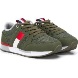 Tommy Hilfiger Junior side logo sneakers - Green found on Bargain Bro UK from FarFetch.com- UK