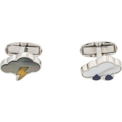 Paul Smith enamelled 'storm cloud' cufflinks - White found on Bargain Bro India from FARFETCH.COM Australia for $130.24