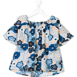 Chloé Kids floral gathered blouse - Blue found on Bargain Bro UK from FarFetch.com- UK