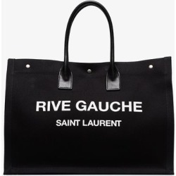Saint Laurent Womens Black Noe Rive Gauche Large Tote Bag found on Bargain Bro UK from Browns Fashion