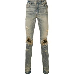 Amiri distressed slim jeans - Blue found on MODAPINS from FarFetch.com- UK for USD $1015.93