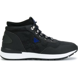 Armani Jeans lace-up hi-top sneakers - Black found on MODAPINS from FARFETCH.COM Australia for USD $164.37