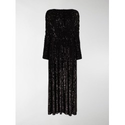 Saint Laurent ruched sequin maxi dress found on Bargain Bro UK from MODES GLOBAL