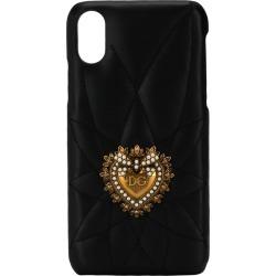 Dolce & Gabbana heart plaque iPhone X/Xs case - Black