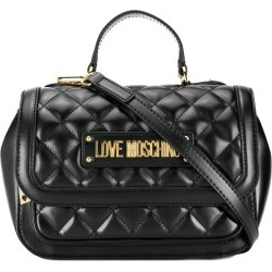 c02de0ca5899 Love Moschino quilted logo plaque tote bag - Black found on MODAPINS from  FarFetch.com