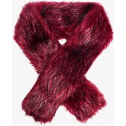 Gucci Womens Red Faux Fur Scarf found on Bargain Bro UK from Browns Fashion
