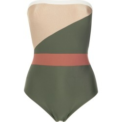 Adriana Degreas strapless swimsuit - Green found on MODAPINS from FarFetch.com - US for USD $226.00