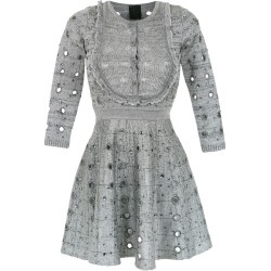 Andrea Bogosian knitted apliqué dress - Grey found on MODAPINS from FarFetch.com- UK for USD $896.34