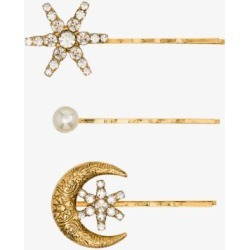 Jennifer Behr Womens Gold Tone Atlas Embellished Hair Clips found on Bargain Bro UK from Browns Fashion