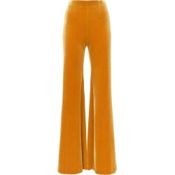 Galvan wide-leg velvet trousers - Yellow found on Bargain Bro Philippines from FarFetch.com - US for $601.00