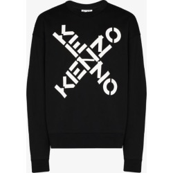 Kenzo Mens Black Oversized Logo Print Cotton Sweatshirt found on Bargain Bro UK from Browns Fashion