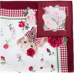 Monnalisa TEEN dog and floral print scarf - Red found on MODAPINS from FarFetch.com- UK for USD $73.14