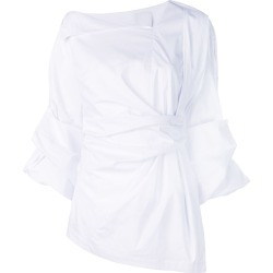 Acler draped shirt - White found on MODAPINS from FARFETCH.COM Australia for USD $367.93