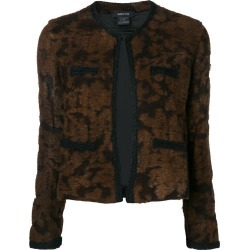 Avant Toi round neck jacquard jacket - Brown found on MODAPINS from FARFETCH.COM Australia for USD $1277.14