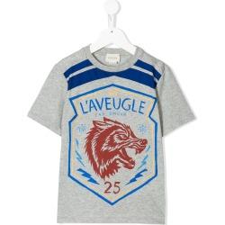 4289189ab9f Gucci Kids wolf print T-shirt - Grey found on MODAPINS from FarFetch.com