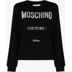 Moschino Womens Black Couture Logo-print Swearshirt found on Bargain Bro UK from Browns Fashion