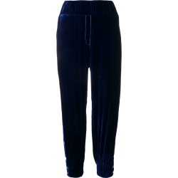 Almaz buttoned sides velvet track pants - Blue found on MODAPINS from FarFetch.com- UK for USD $645.16