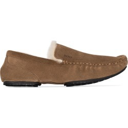 Hugo Hugo Boss lined stitch detail slippers - Brown found on Bargain Bro UK from FarFetch.com- UK