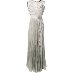Irina Schrotter ruffle maxi dress - Grey found on Bargain Bro UK from FarFetch.com- UK