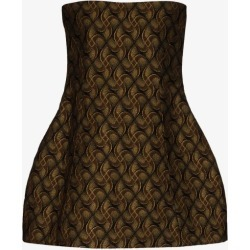 Khaite Womens Black Ginger Jacquard Mini Dress found on MODAPINS from Browns Fashion for USD $1852.43